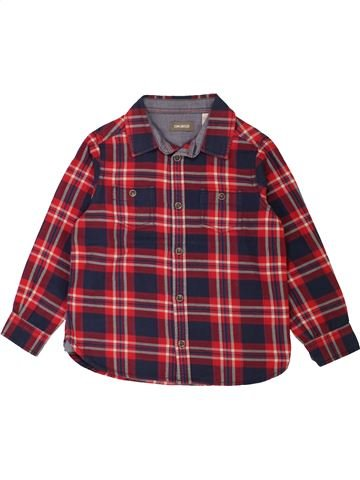 Chemise manches longues garçon OKAIDI marron 5 ans hiver #1557511_1