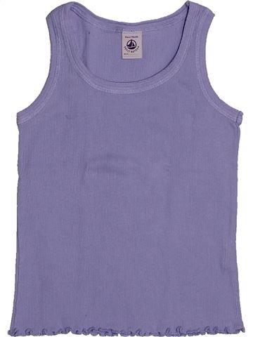 T-shirt sans manches fille PETIT BATEAU bleu 6 ans été #1557863_1