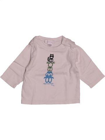 T-shirt manches longues garçon OKAIDI rose 1 mois hiver #1557960_1