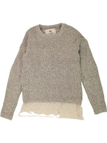 Pull fille YOUNG DIMENSION gris 10 ans hiver #1558102_1