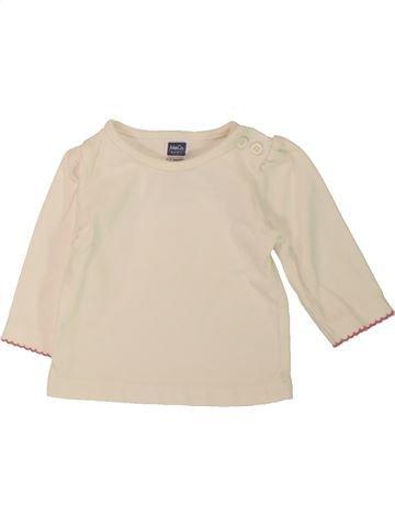 T-shirt manches longues fille M&CO bleu 3 mois hiver #1558243_1