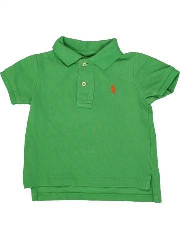 Polo manches courtes garçon RALPH LAUREN vert 12 mois été #1559353_1