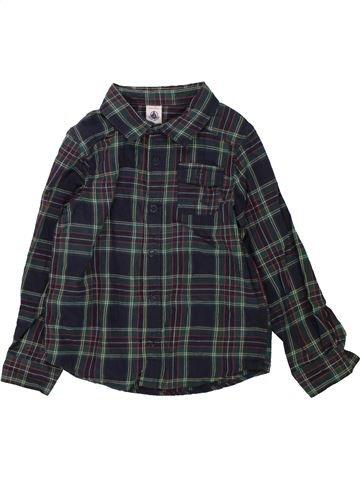 Chemise manches longues garçon PETIT BATEAU noir 5 ans hiver #1559521_1