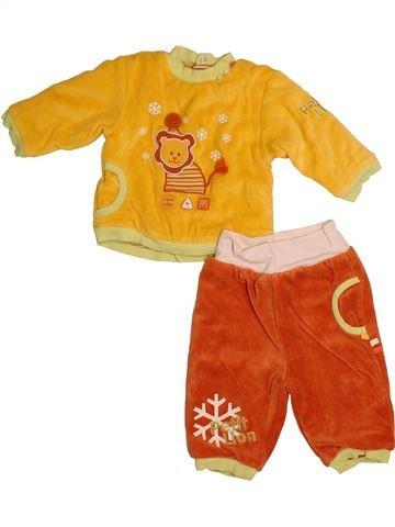 Pyjama 2 pièces garçon ORCHESTRA blanc 9 mois hiver #1559669_1