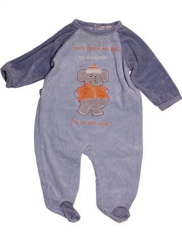 Pyjama 1 pièce garçon IN EXTENSO gris 9 mois hiver #1559693_1