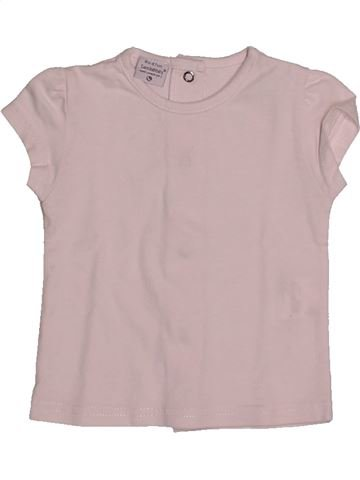 T-shirt manches courtes fille LES BEBES SONT COMME ÇA gris 6 mois été #1560107_1