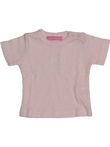 T-shirt manches courtes fille WEEK END A LA MER gris 6 mois été #1560138_1