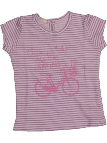Camiseta de manga corta niña BENETTON violeta 9 meses verano #1560177_1