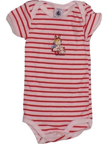 T-shirt manches courtes fille PETIT BATEAU rose 6 mois été #1560235_1
