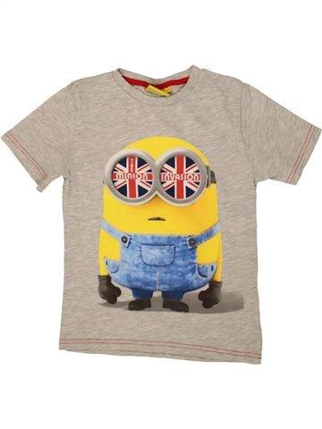 T-shirt manches courtes garçon LES MINIONS beige 7 ans été #1560284_1