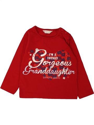 T-shirt manches longues fille M&CO rouge 18 mois hiver #1560503_1