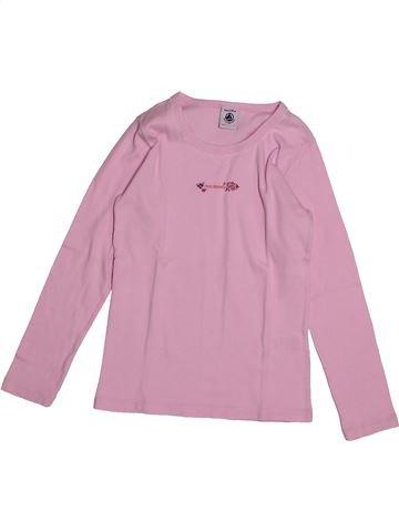 T-shirt manches longues fille PETIT BATEAU rose 8 ans hiver #1560886_1