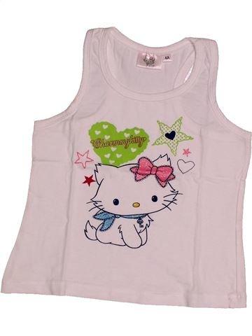 T-shirt sans manches fille HELLO KITTY rose 4 ans été #1561011_1