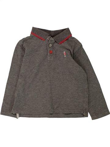 Polo manches longues garçon THE LITTLE WHITE COMPANY gris 3 ans hiver #1561151_1