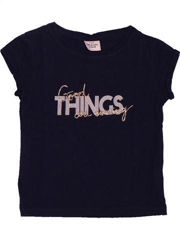 T-shirt manches courtes fille TAPE À L'OEIL noir 2 ans été #1561459_1