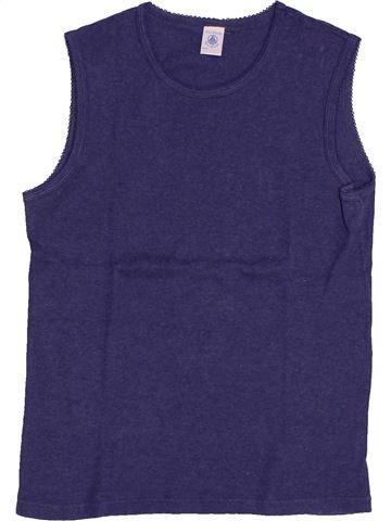 T-shirt sans manches fille PETIT BATEAU bleu 14 ans été #1561619_1