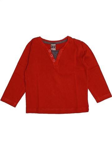 T-shirt manches longues garçon TAPE À L'OEIL rouge 2 ans hiver #1561651_1