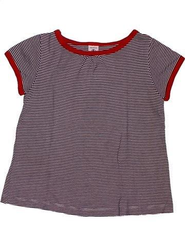 T-shirt manches courtes fille PETIT BATEAU gris 6 ans été #1561749_1