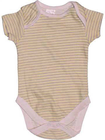 T-shirt manches courtes garçon B&M beige 3 mois été #1562793_1