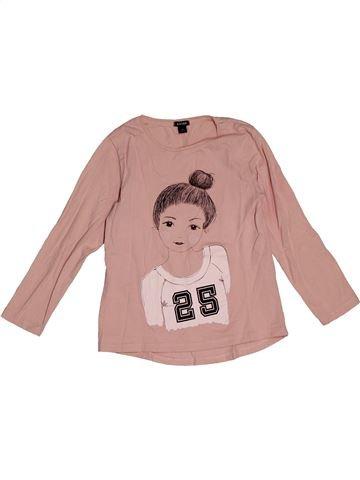 T-shirt manches longues fille KIABI rose 6 ans hiver #1563540_1