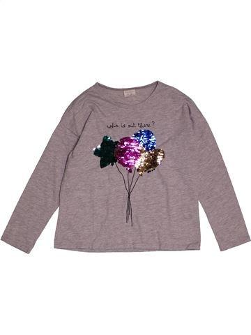 T-shirt manches longues fille ZARA gris 8 ans hiver #1563561_1