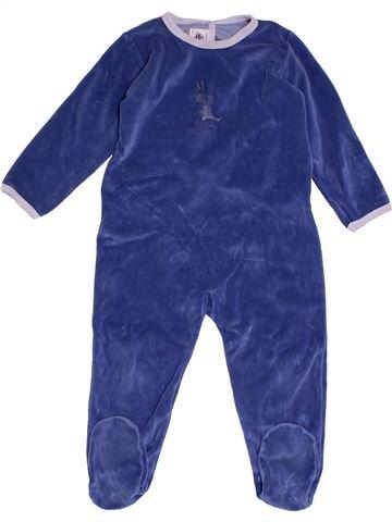 Pyjama 1 pièce garçon PETIT BATEAU bleu 2 ans hiver #1563582_1