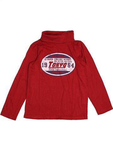T-shirt col roulé garçon TAPE À L'OEIL rouge 8 ans hiver #1563601_1