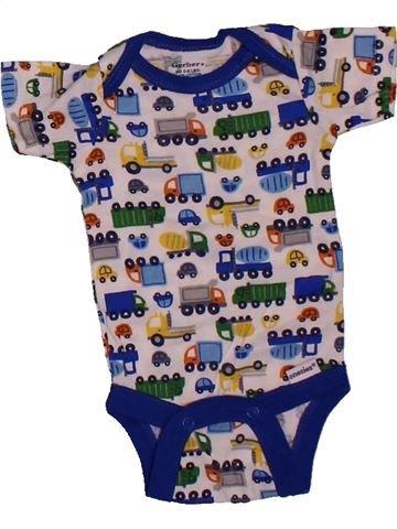 T-shirt manches courtes garçon GERBER gris naissance été #1564016_1