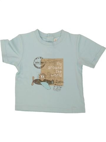 c85352da6c184 vêtements MAMAS   PAPAS enfant. T-shirt manches courtes garçon MAMAS    PAPAS bleu 12 mois été  1659472 1