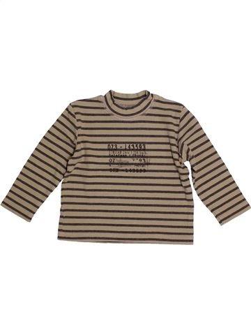 4743cba96e01b T-shirt manches longues garçon JEAN BOURGET marron 2 ans hiver  1685297 1
