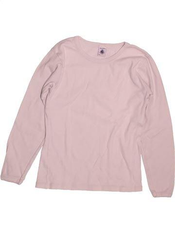 f8c0d43539d69 T-shirt manches longues unisexe PETIT BATEAU rose 10 ans hiver  1692571 1