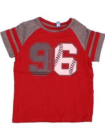 55f29e7d395d0 T-shirt manches courtes garçon OKAIDI rouge 6 ans été  1694199 1