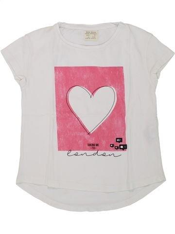 f4f8de6bae41e T-shirt manches courtes fille ZARA blanc 6 ans été #1752731_1
