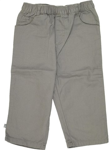 Pantalon garçon OKAIDI gris 12 mois été #836780_1