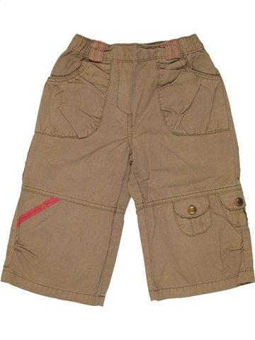 Pantalon fille VERTBAUDET marron 3 ans été #841695_1