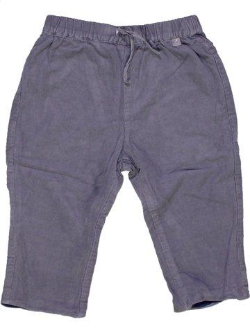 Pantalon garçon CADET ROUSSELLE bleu 12 mois hiver #929192_1