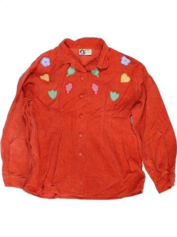 Blouse manches longues fille DPAM rouge 8 ans hiver #960076_1