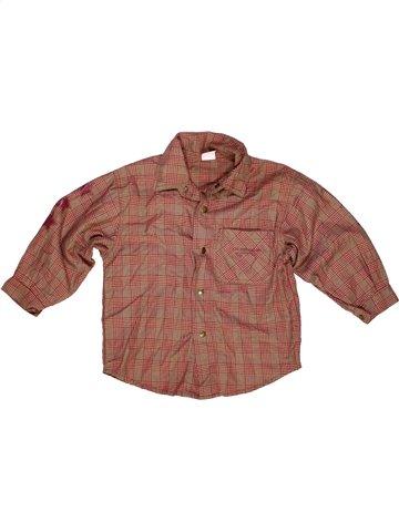 Chemise manches longues garçon 3 POMMES marron 4 ans hiver #972443_1